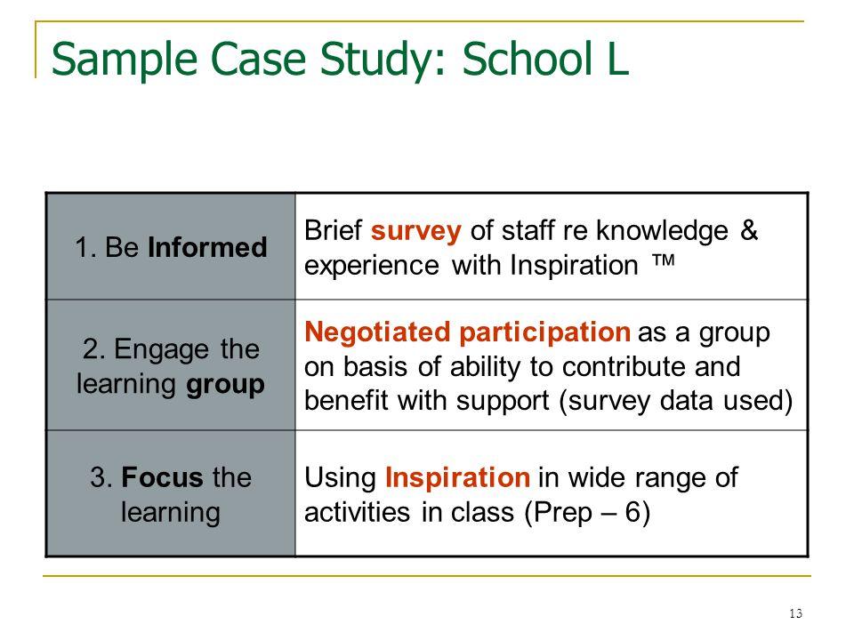 14 Sample Case Study: School L 4.