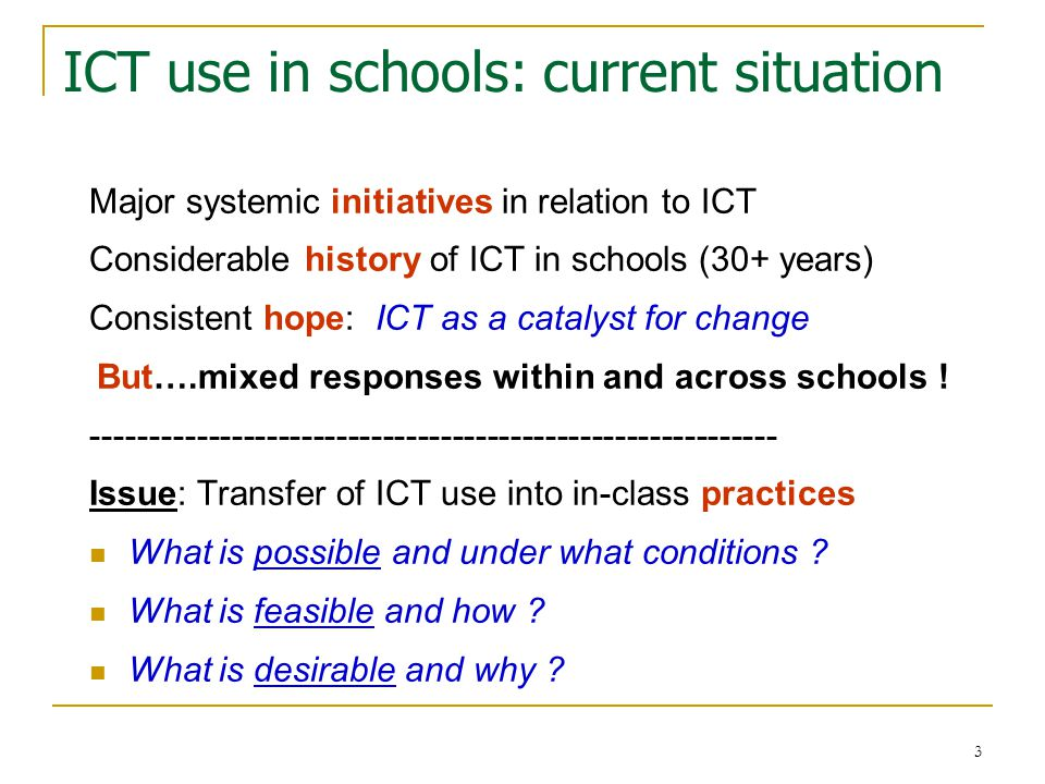 4 ICT and professional learning Becta report: ICT and Pedagogy (Cox et al., 2004) : '…further substantial support for continuing professional development is necessary in order that teachers integrate the use of ICT and improve pupils' attainment…' (p.5) [however] '…little is known about the relationship between their experiences within professional development and their subsequent pedagogies when using ICT.' ( p.36).