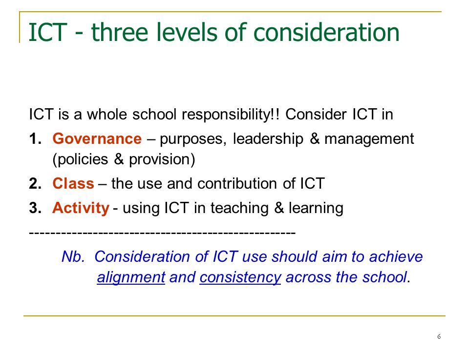 7 Four key success factors (?) 1.Purposes & rationale for using ICT are shared 2.Matching technology is available for use 3.Working knowledge - select, operate & troubleshoot ICT 4.Cost effectiveness - worth time, effort, investment… ----------------------------------------------------------------- Nb Teachers & observations confirm the above order of importance.