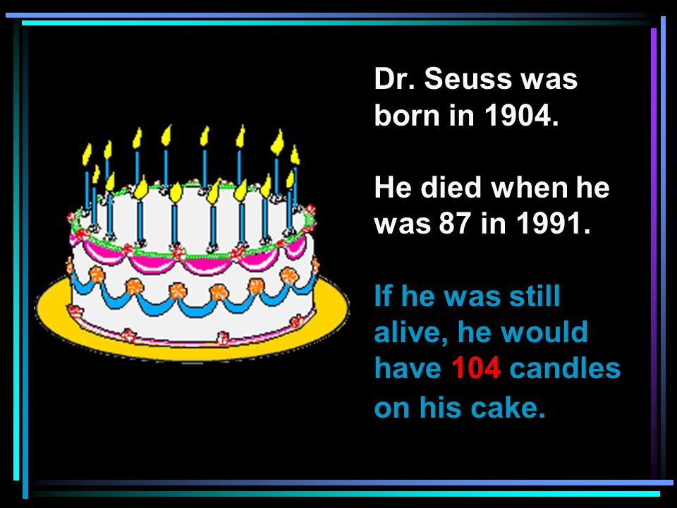 Dr.Seuss ' s real name was Theodor Seuss Geisel. His friends called him Ted, or Mr.