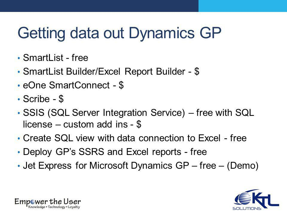 Why deploy GP's SSRS and Excel reports.