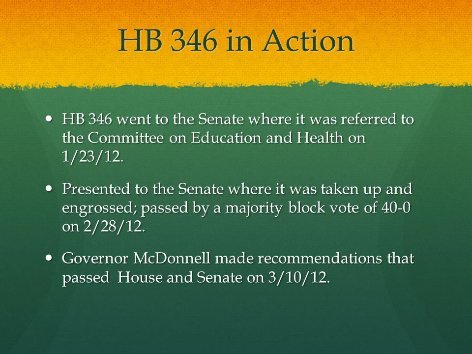 HB 346: Benefits Beneficiaries of the bill include patients throughout the Commonwealth of Virginia, in particular patients in underserved areas such as nursing homes and free clinics.