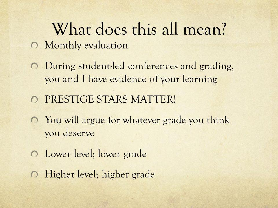 Why have students argue for their own grade.