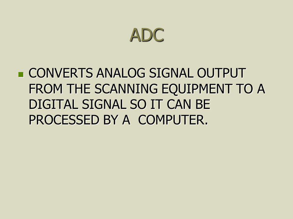 SAMPLE/HOLD UNIT (S/H) LOCATED BETWEEN AMPLIFIER AND ADC PERFORMS SAMPLING AND ASSIGNS SHADES OF GRAY TO THE PIXELS IN THE DIGITAL MATRIX CORRESPONDING TO THE STRUCTURES LOCATED BETWEEN AMPLIFIER AND ADC PERFORMS SAMPLING AND ASSIGNS SHADES OF GRAY TO THE PIXELS IN THE DIGITAL MATRIX CORRESPONDING TO THE STRUCTURES
