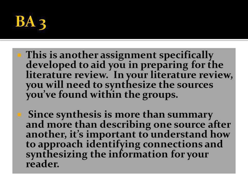  BA 3 is a synthesis of three texts from your textbook for this course.
