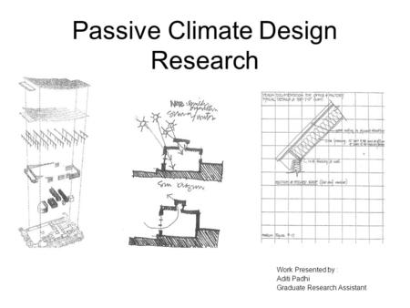 Passive Climate Design Research