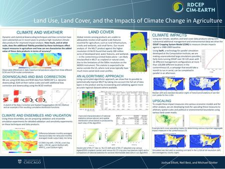 Land Use, Land Cover, and the Impacts of Climate Change in Agriculture Hexbin plot of MLCT raw vs. NLCD (left) and of MLCT adjusted crop versus Agland2000.