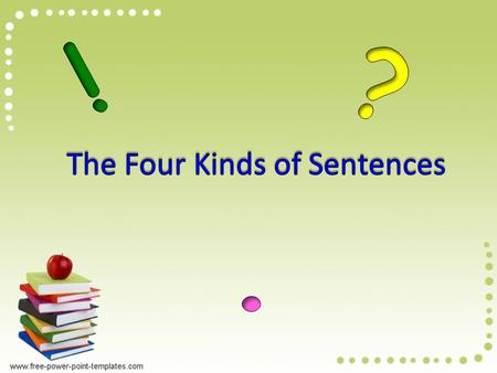 Today we are going to learn about the types of sentences. What is a sentence?