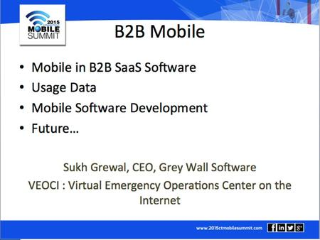Mobility The software developers perspective Sukh Grewal CEO, Grey Wall Software