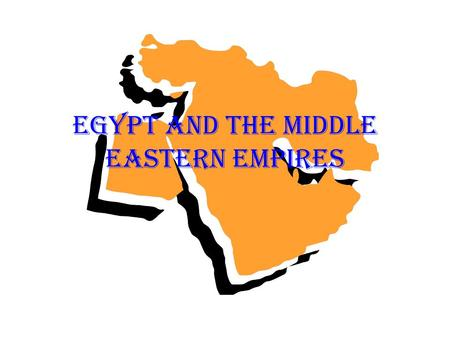 Egypt and the Middle Eastern Empires. The Assyrians Developed in Mesopotamia Used Iron weapons and military strength to conquer territory and enslave.