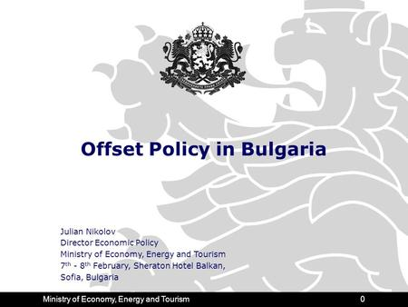 Contents Why Offsets Are Important for Bulgaria?