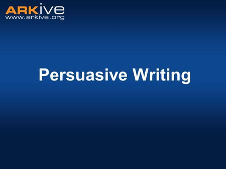 Persuasive Writing. What is persuasive writing? Persuasive writing is used to convince others to agree with your point of view.