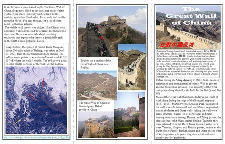 The Great Wall of China 在對中國長城 Rulers during the Ming dynasty (1368–1644) ceaselessly maintained and strengthened the Great Wall to prevent another Mongolian.