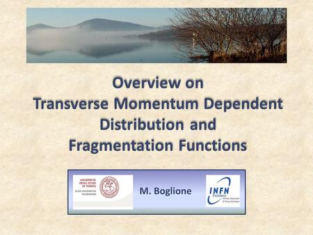 Overview on Transverse Momentum Dependent Distribution and Fragmentation Functions M. Boglione.