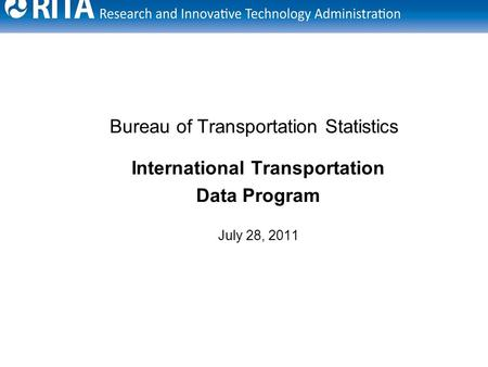 October 27 2009 winnipeg alicia nolan co chair u s for Bureau transportation statistics