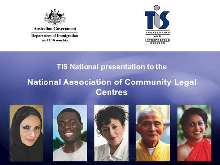 TIS National presentation to the National Association of Community Legal Centres.