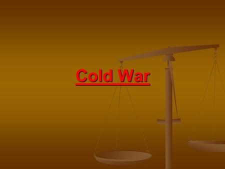 Cold War. Cold vs. Hot War 'Hot wars' = actual fighting 'Hot wars' = actual fighting 'Cold wars' = no fighting but a lot of tension and high risk of war.