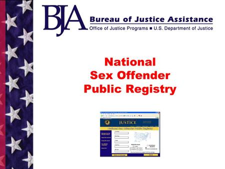 National registry of sexual offenders