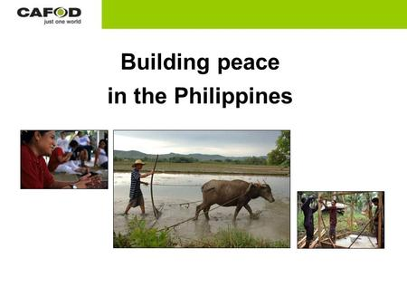 Building peace in the Philippines. Mindanao is the second-largest island in the Philippines. North- western Mindanao is humid and mountainous.