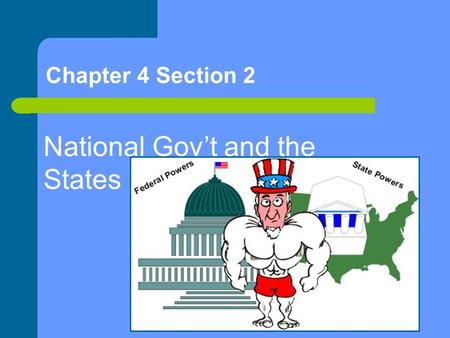 Chapter 4 Section 2 National Gov't and the States.