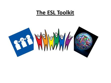 The ESL Toolkit. Picture Rules Dictionary ImagesPicture RulesDictionaryImages Sentence StartersSentence Starters Talk to other teachers f Role Models.