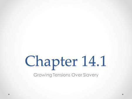 Chapter 14.1 Growing Tensions Over Slavery. Key Terms and People Popular sovereignty Secede Fugitive Henry Clay John Calhoun Daniel Webster.