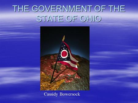 THE GOVERNMENT OF THE STATE OF OHIO Cassidy Bowersock.