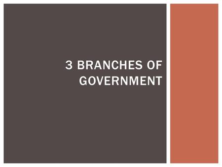 3 BRANCHES OF GOVERNMENT.  Take out your vocabulary for this section. DO NOW.