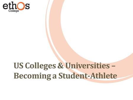 US Colleges & Universities – Becoming a Student-Athlete.