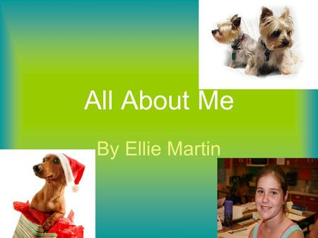 All About Me By Ellie Martin. Soccer, because your never standing there is always movment. Swimming, it will make your legs very strong.