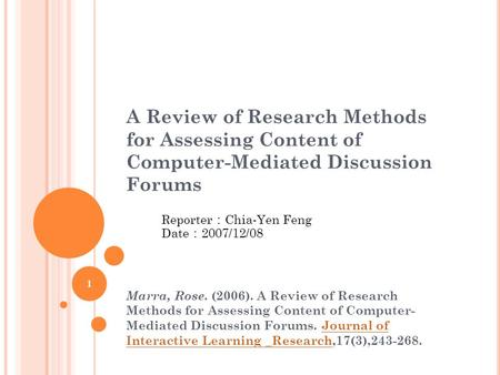 review of research What is a not a literature review a literature review is not simply a chronological catalog of all your sources, but an evaluation it pulls the previous research together, and explains how it connects to the research proposed by the current paper.