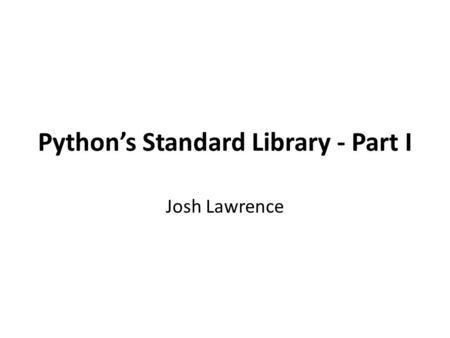 python standard library pdf download