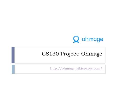 CS130 Project: Ohmage