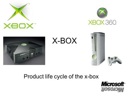 X-BOX Product life cycle of the x-box. There were other gaming consoles on the market, but there was a need for Microsoft to create one. So they created.