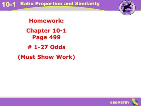 Homework: Chapter 10-1 Page 499 # 1-27 Odds (Must Show Work)