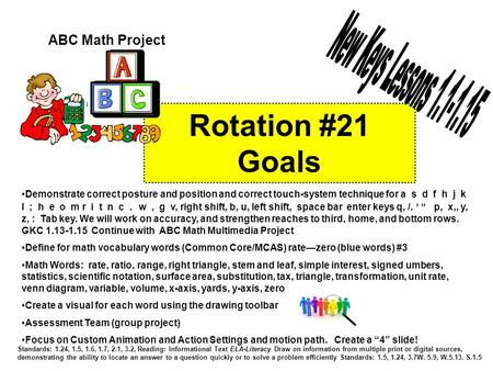 Rotation #21 Goals Standards: 1.24, 1.5, 1.6, 1.7, 2.1, 3.2, Reading: Informational Text ELA-Literacy Draw on information from multiple print or digital.