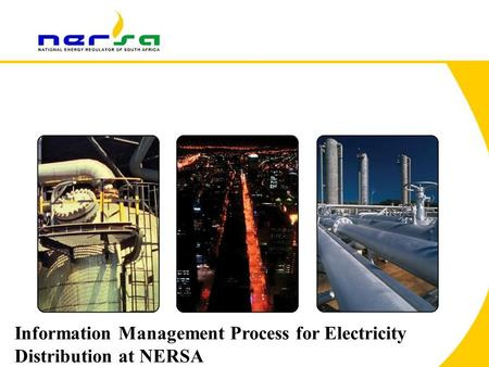 1 Information Management Process for Electricity Distribution at NERSA.