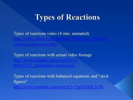 Reaction Essays