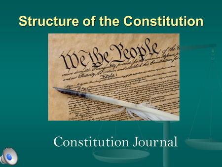 Structure of the Constitution Constitution Journal.