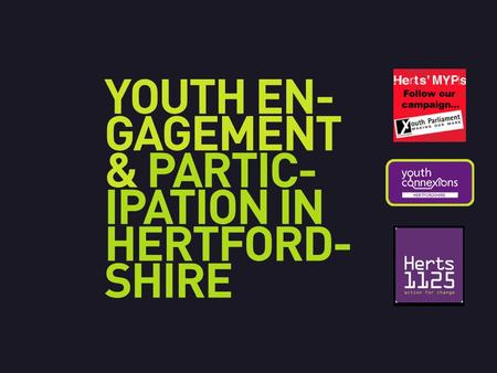 Aged 11 – 18 (18 yrs as at end of term: Feb 2015) Elected annually for a 12 month term One young person per District to be elected Represent Hertfordshire.