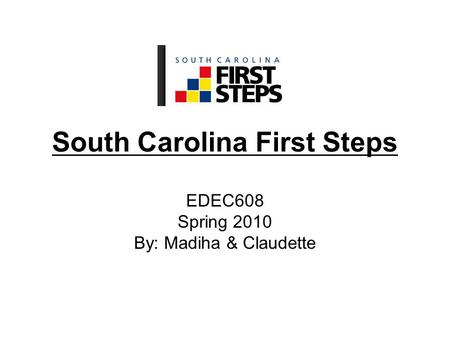South Carolina First Steps EDEC608 Spring 2010 By: Madiha & Claudette.
