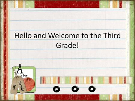 Hello and Welcome to the Third Grade!. I grew up in Griffith, IN.