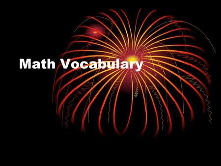Math Vocabulary. Multiplication DEFINITION EXAMPLE.