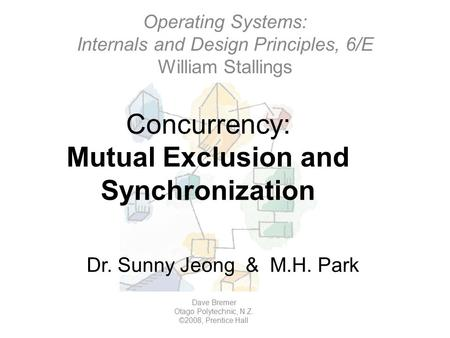 Concurrency: Mutual Exclusion and Synchronization Operating Systems: Internals and Design Principles, 6/E William Stallings Dave Bremer Otago Polytechnic,