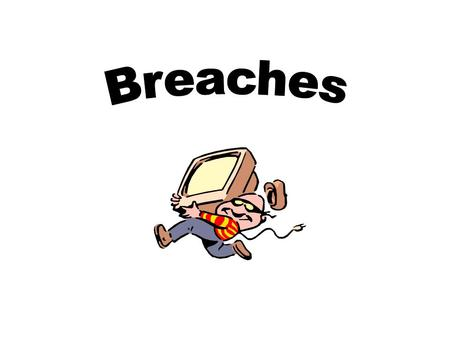 Breach vs. Security Incident A security incident is an actual or suspected occurrence of: Damage, destruction, unauthorized access or disclosure of.