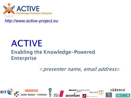 Kea-pro ACTIVE Enabling the Knowledge-Powered Enterprise