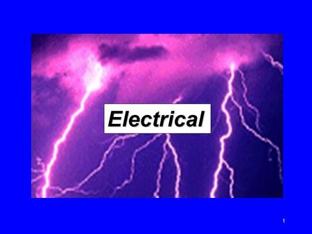 1 Electrical. 2 Introduction An average of one worker is electrocuted on the job every day There are four main types of electrical injuries:  Electrocution.