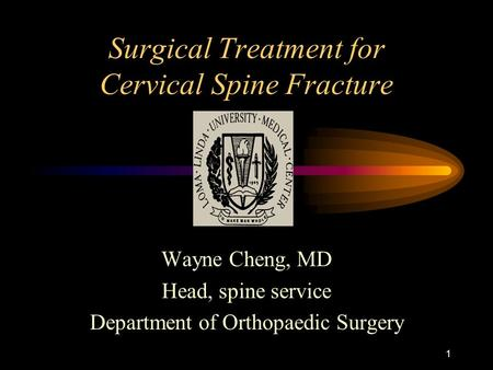 Surgical Treatment for Cervical Spine Fracture