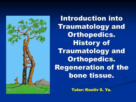 Introduction into Traumatology and Orthopedics