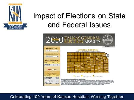 Impact of Elections on State and Federal Issues. Kansas Delegation after 2010 Elections.